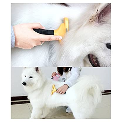 Long &Short Hair deShedding Tool for Dogs/Cats,Provides Excellent Pet Grooming Results With Minimal Effort 4