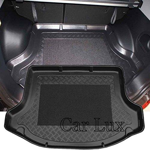 Car Lux AR01591 - Alfombra Cubeta Protector cubre maletero a medida con antideslizante