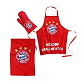 FC Bayern München Grillset 3-teilig + gratis Sticker, FCB Bundesliga FCB, BBQ Set of 3