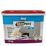 Knauf 4006379067657 EASYPUTZ, Körnung, schneeweißer, mineralischer Dekorputz, hochwertig, zum einfachen Aufrollen auf Wand oder Decke im Innenbereich, atmungsaktiv, Weiß, 10 kg, 1 mm
