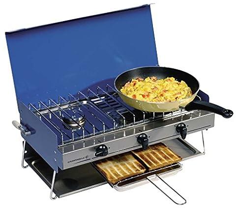 Camping Chef Réchaud–Faites bouillir, frire et Toast à la fois avec le camping Chef Réchaud pliable compact. Le poêle multifonction est parfait pour Fouetter jusqu'petit-déjeuner pour camping de la famille sur les voyages.
