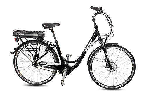 Gregster E-Bike Damen in schwarz | Elektrofahrrad mit 7 Gang Nabelschaltung | 28 Zoll Elektro-Fahrrad mit Mittelmotor