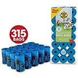 Bags on Board Dog Waste Bags Refill Pack, 9x14 in, 315 bags