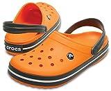 Crocs Unisex-Erwachsene Crocband Clogs, Gr.-48/49 EU, Blazing Orange/ Slate Grey