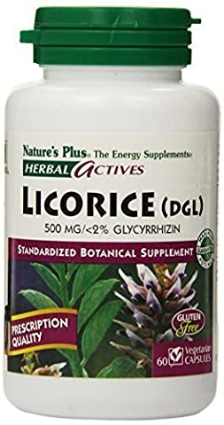 Nature's Plus - Licorice (Dgl), 500 mg, 60 capsules by Nature's Plus