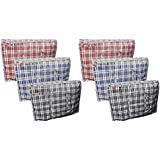 6 X LARGE STRONG LAUNDRY STORAGE SHOPPING BAG REUSABLE STORE ZIP BAGS NEW by Zuvo