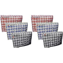 Berri 6 X Large Laundry Storage Shopping Bags with Zip - REUSABLE / NEW