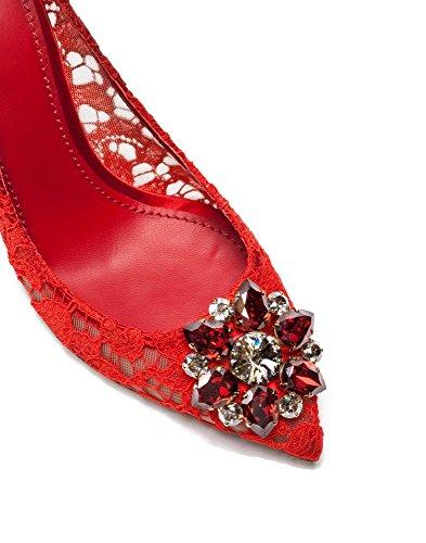 uBeauty Escarpins Dentelle Femmes Diamant Pointues Toe Chaussures de Mariage Stilettos Usure Parti Rouge