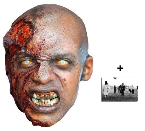 The Walking Dead Bleeding Zombie Karte Partei Gesichtsmasken (Maske) - Enthält 6X4 (15X10Cm) starfoto
