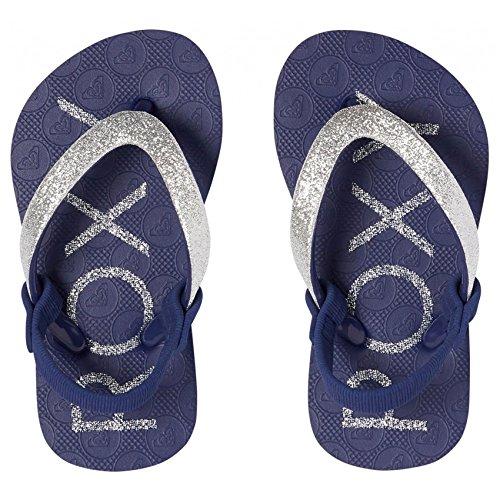 Roxy Baby Mädchen Viva Glitter Sandalen, Blau (Cobalt Co2), 26 EU Mädchen Flip-flops Für Den Pool