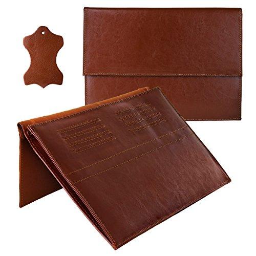 eFabrik Leder Tasche für Blaupunkt Endeavour 1100 (11,6 Zoll) Schutz Case Hülle Zubehör Cover Sleeve Braun