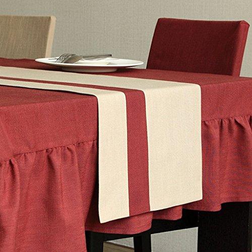 QiangZi Table Runners Solide Couleur Couture Salon Cuisine Bureau Table À Thé, Armoire À Chaussures, Et TV Stand \