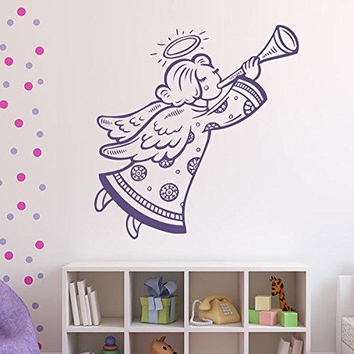 Engel Und Schwarz Flügel Halo (Engel Cartoon Halo Flügel Weihnachten Wandsticker Nach Jahreszeiten Dekor Art Decals verfügbar in 5 Größen und 25 Farben Groß)