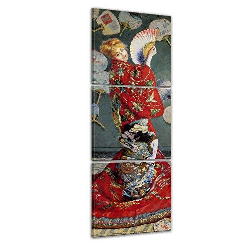 ister - Claude Monet - La Japonaise (Camille im japanischen Kostüm) - Panorama 40x120cm dreiteilig - Leinwandbilder - Bilder als Leinwanddruck - Bild auf Leinwand - Wandbild von Bilderdepot24 (China Kostüm Bild)