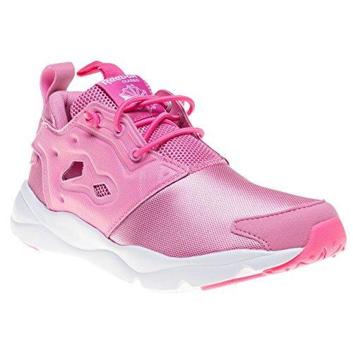 Reebok Furylite, Scarpe Indoor Multisport Bambine Multicolore Rosa/Blanco (Icono rosa/Solar rosa/Wht) 35