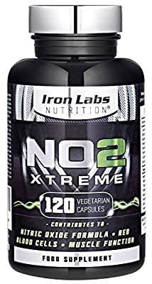Iron Labs Nutrition NO2 Xtreme Nitric Oxide Pre-Workout Supplement, 2500 mg, 120-Count from Iron Labs Nutrition