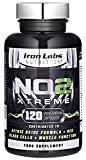 Iron Labs Nutrition NO2 Xtreme Nitric Oxide Pre-Workout Supplement, 2500 mg, 120-Count