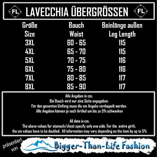 Lavecchia Tallas Extra Grandes Pantal/ón ch/ándal Negro con m/ás Delgado Tela de algod/ón 8XL