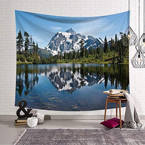 jtxqe Nordic ins hängende Kunst Digitaldruck Wandteppich Wanddecke Strandtuch quadratische Serie Landschaft 176 200x150