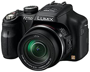 Panasonic Lumix DMC-FZ150 Compact Camera with Full HD Video Recording - Black (12.1 MP, 24x Optical Zoom) 3.0 inch LCD