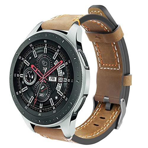 DakTou Armband für Samsung Galaxy Watch 46mm,Verstellbarer Riemen Uhr Gürtel mit Metallschnalle für Samsung Smart Watch Lederband