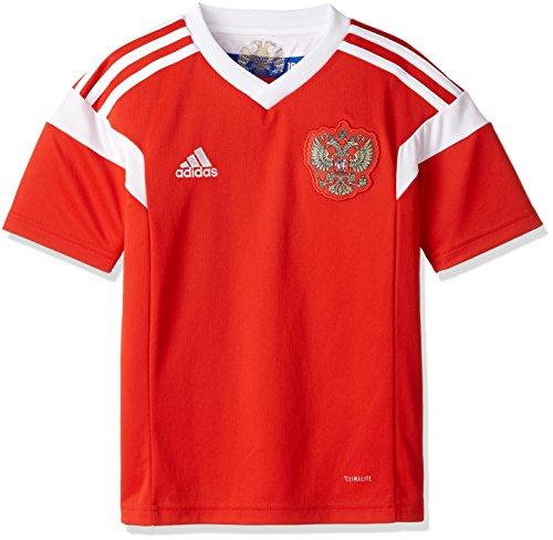 adidas Kinder Russland Heim Replica Trikot, Red/White, 152
