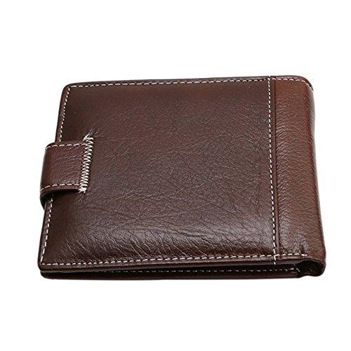 Gluckliy Männliches Geld Bargeld Kartenhalter Tasche Kurz Dünn Kreditkartenhalter Geldbörsen (Schwarz) Leichter Kaffee
