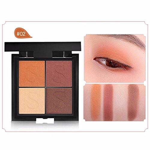 Quick Eyes Cream Shadow (Sansee Damen wasserdichte dauerhafte Perlen Lidschatten 4 Farben Platte (4 Farben Lidschatten, B))