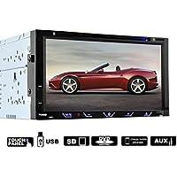 Lacaca 7touch screen HD Doppio Din In dash Car Stereo DVD lettore CD Supporto Bluetooth USB FM funzione di uscita telecomando wireless IR telecamera posteriore