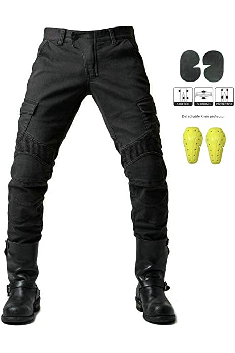 /Cordura /& Spandex/ /Negro /Resistente al Agua/ /Protectores Despu/és de CE 1621/ /1/ Bikers Gear UK Motocicleta de Pantalones Cargo/