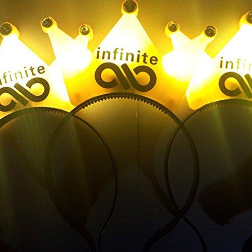 Luminous Geschenk-Hersteller liefern Konzert liefert LED-Licht Haarband Crown Stil blinkende Haar liefert (10 Sätze)