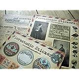 Lot de 10 feuilles de Stickers Deco Vintage Stickers Sticker en Papier pour scrapbooking