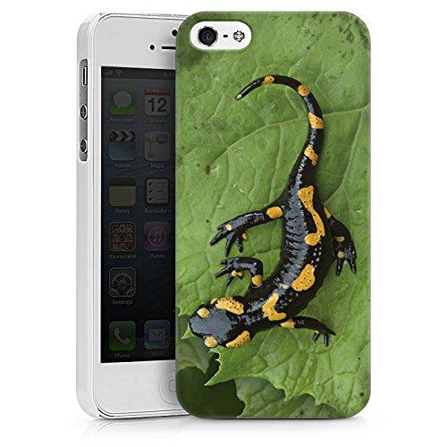 Apple iPhone X Silikon Hülle Case Schutzhülle Salamander Echse Reptil Hard Case weiß