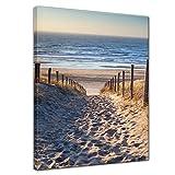Bilderdepot24 Kunstdruck - Schöner Weg zum Strand III - Bild auf Leinwand - 40x50 cm einteilig - Leinwandbilder - Bilder als Leinwanddruck - Wandbild