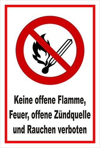 Melis Folienwerkstatt Aufkleber - Offenes Feuer verboten - 30x20cm - S00355-011-B 20 VAR