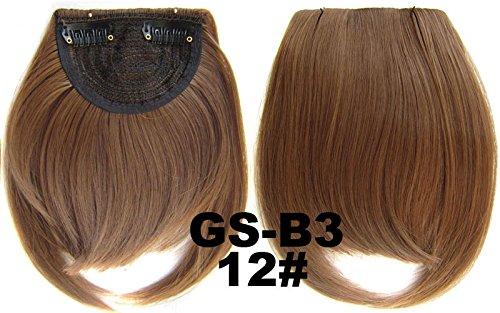 # 12 100% fibre synthétique haute température Clip dans/sur cheveux avant frange frange cheveux