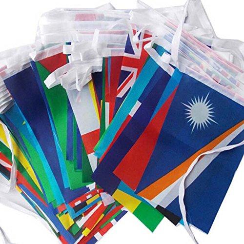 Nrpfell 1 Satz Verschiedene Laender Haengen Flagge/Banner Buero & bar & Hotel & Home Dekoration Aktivitaet & wk internationalen Welt Banner 25 Mt (Land Flagge Banner)
