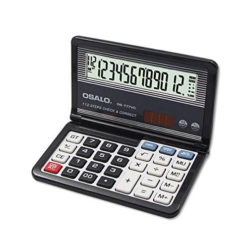 Pendancy OS-777VC Taschenrechner, 12-stelliges LCD-Display, Taschenrechner, Taschenrechner OS-777VC, Black A
