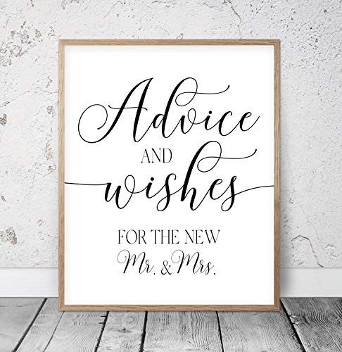 Advice And Wishes Printable Wedding Signs Wedding Decor Wedding Printables Wedding Day Cards Wedding Party Print Outdoor Wedding Wood Pallet Design Wall Art Sign Plaque with Frame wooden sign