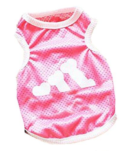 Crasy Shop Fashion Pet Sommer Weste T-shirt Hund Puppy Hundemantel Adidog Bekleidung Sportbekleidung für kleine medium Puppy Dogs Katzen