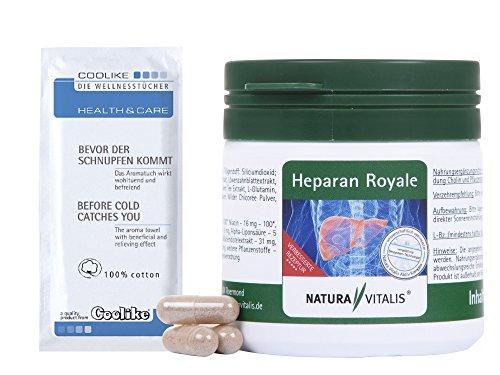 Natura Vitalis Heparan Royale mit Cholin (90 Kapseln) für 3 Monate + Coolike Tuch