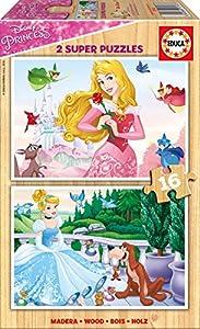 Disney Princesas Puzzle, 2 x 16 Piezas (Educa Borrás 17163)