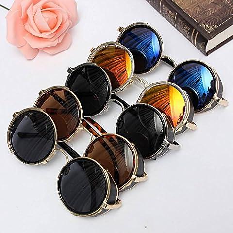 ELEGIANT Sonnenbrille UV400 klassisches rundes Retro Vintage Stil Sonnenbrille Sunglasses Herren Damen Brille