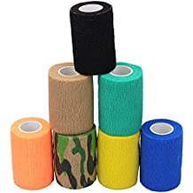 "lenhar 3""veterinario cinta Wrap Bulk, Auto adherente Wrap cinta, Self Adhering Stick de compresión para vendaje una herida tobillo apoyo o médico supplies-7rollos"