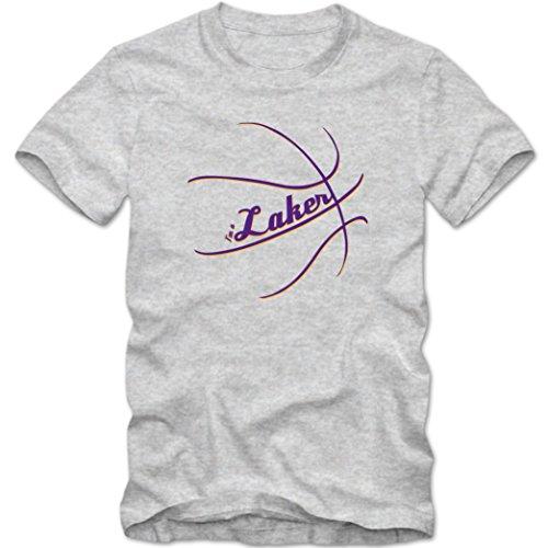 I'm a Laker #2 T-Shirt | Herren | Basketball | Play Offs | Trikot | USA | Fanshirt | Tee, Farbe:Graumeliert (Grey Melange L190);Größe:XXL -