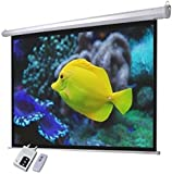 """84"""" inch Electric HD Projector Screen With Remote 16:9 Native Aspect Ratio"""