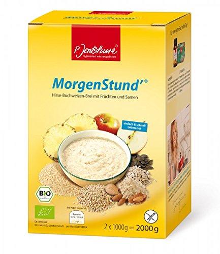 P. Jentschura MorgenStund basischer Hirse Buchweizen Brei basen Frühstück für den leichten Start in den Tag, 2 kg (DE-ÖKO-064)