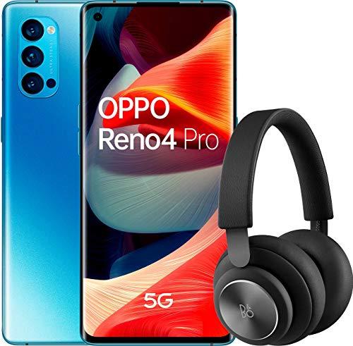 Oferta de OPPO Reno 4 Pro 5G – Smartphone de 6.5 (Snapdragon 765G, 4000mAh con carga 65W, Android 10) Azul + Auriculares Bang&Olufsen H4