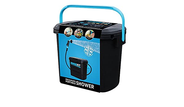 RinseKit mobile Dusche - schwarz Benötigt keine Wasserpumpe e24b3559f0d