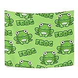 ALAZA Seamless Pattern Cute Dibujos Animados Ojos Grandes Rana Verde poliéster decoración del...